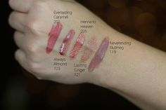 Loreal Infallible Pro Last Lip Color swatches Loreal Infallible Lipstick, Makeup Tips, Beauty Makeup, Color Swatches, Lip Colors, The Balm, Tattoo Quotes, Cool Hairstyles, Beauty Hacks
