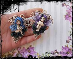 Fairies in polymer clay designed and made by me