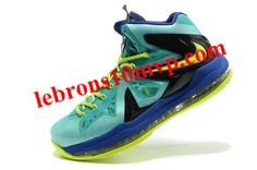 a70c6382761 Nike LeBron X PS Elite Turquoise Volt 579827 300 Yellow Shoes