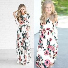 Mom and daughter summer dresses – Fabulous Bargains Galore Dresses Kids Girl, Girl Outfits, Dress Outfits, Fall Dresses, Summer Dresses, Long Dresses, Dress Long, Mother Daughter Outfits, Floral Print Maxi Dress