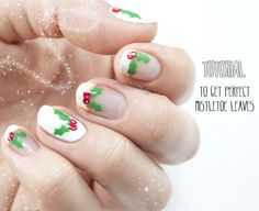 Holly Jolly Mistletoe Mani Tutorial for Divine Caroline - Nailed It | The Nail Art Blog