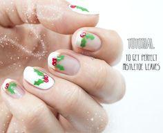 Holly Jolly Mistletoe Mani Tutorial for Divine Caroline - Nailed It | The Nail Art Blog