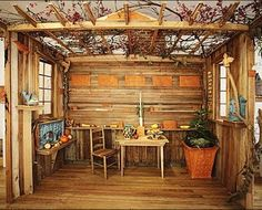 Prairie Sukkah :) Here in MN, Sukkot time usually means wind, rain, and chilly -- this may be more practical for us.