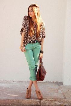 Mint + Leopard. Love!