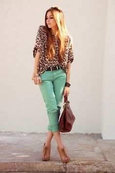 Mint + Leopard. Love!
