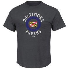 Men's Heathered Baltimore Ravens T-Shirt