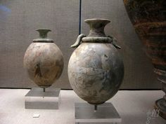 minoan eggs   Birth of Symbolic ThoughtCould 60,000-year-old engraved patterns on ostrich eggs be oldest form of 'written' communicationFortean Times,September 2010 Fossil ostrich eggs have been f…