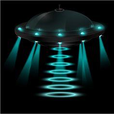 UFO - tshirt design by FLIP. ovni nocturno venido del espacio interestelar, recorriendo galaxias, tal vez para abducción... : ) - UFO night come from interstellar space, galaxies traveling, perhaps to abduction ... : ) #ufo #tshirt #extraterrestre