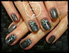 Stamped ombre nail art