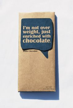 Fun design for a Chocolate Bar!
