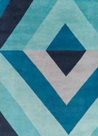 Jonathan Adler Rug Sybil Diamond Blue