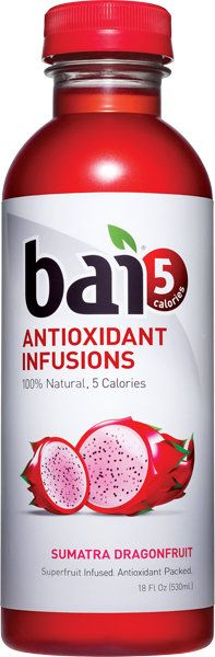 Bai5 Sumatra Dragonfruit is tart and refreshing #flavoredwater with no added chemicals or sugar!