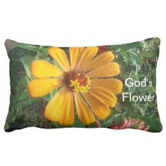 God's Flower A  Pillow, with brilliant colors for your special room.