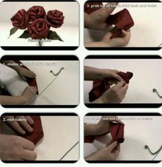 DIY: ( Part 1) how to make fabric roses