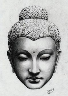If you're planning to get a Buddha tattoo design, you've come to the best place. We have the best & most beautiful Buddha tattoos for inspiration. Buddha Tattoo Design, Buddha Tattoos, Buddha Kopf, Buddha Kunst, Buddha Drawing, Buddha Painting, Statue Tattoo, Buddha Face, Buddha Head