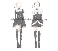 [OPEN] Halloween Outfit Adoptables by Aloise-chan.deviantart.com on @DeviantArt