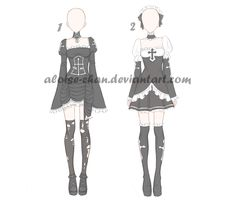 [OPEN] Halloween Outfit Adoptables by Aloise-chan.deviantart.com on @DeviantArt