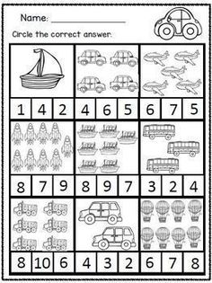 This is a cross curricular transportation unit bundle that includes 20 activity/worksheet styles. There are 38 differentiated themed worksheets/activities which incorporate math, literacy, fine motor, gross motor and visual perceptual skills. Kindergarten Math Worksheets, Math Resources, Teaching Math, Math Literacy, Transportation Theme Preschool, Transportation Worksheet, Numbers Preschool, Free Preschool, Skills To Learn