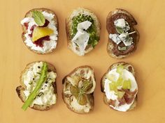 Thanksgiving Appetizers: 50 Easy Toast Toppers : Recipes and Cooking : Food Network Antipasto, Best Thanksgiving Appetizers, Thanksgiving Feast, Thanksgiving Countdown, Hosting Thanksgiving, Thanksgiving Prayer, Thanksgiving Outfit, Thanksgiving Crafts, Thanksgiving Decorations