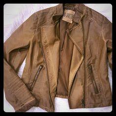 BB DAKOTA Moto Vintage Jacket Worn twice Camel vintage color very boho Size S BB Dakota Jackets & Coats Vests