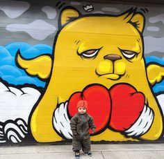 JCRivera's son with Dad's work in Chicago, Illinois (LP)