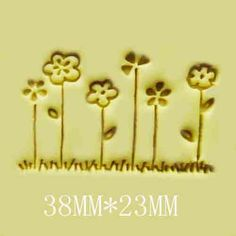 Little Flowers Resin  Seal Stamp Soap Stamps Handmade Soap Candle Candy Stamp Cookies Stamp