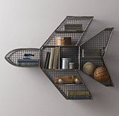 Industrial Wire Cubby Jet Shelf from Restoration Hardware.