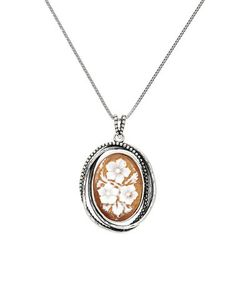 Look at this #zulilyfind! Sterling Silver Floral Cameo Pendant #zulilyfinds