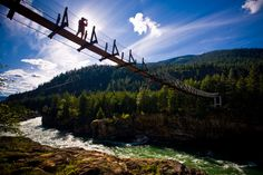 Every summer we are here.  Swinging Bridge over the Kootenai River. Between Troy and Libby Montana. (great photos  from Kirk Mastin lofihistyle.com) Photo used with permission.