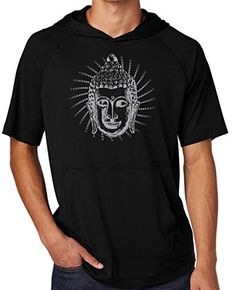 Yoga Clothing For You Ladies Brushstroke AUM Lightweight Hoody 2XL Solid Black
