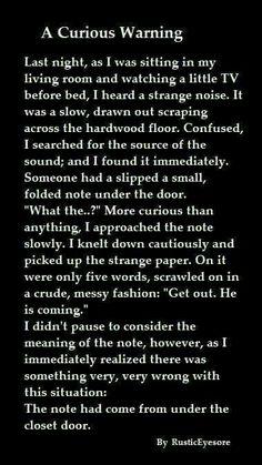 Creepypastas, scary stories, dark, closets o_o Scary Horror Stories, Short Creepy Stories, Spooky Stories, Sad Stories, Ghost Stories, Creepy Pasta Stories, Scary Creepypasta Stories, Scarry Stories, Scariest Stories
