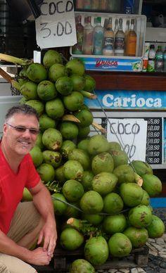 "Rio de Janeiro, Brazil - Ipanema beach ""No shortage of Coconuts"" - Photo by Ernani Oliveira"