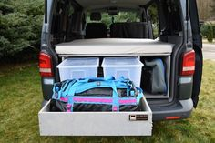 VW T5/T6 Transporter - TRAVEL-SLEEP-BOX T5 Transporter, Volkswagen Transporter, Vw Bus, Vw Caravelle, Vw T5 Interior, Sleep Box, Camping, Motorhome, Conversation