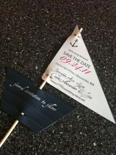 This fun and quirky wedding invitation in the shape of a voat is great for beach or destination weddings in Malta