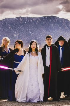 'I didn't just want a wedding with a Star Wars theme,' Ciocon said. 'I wanted a wedding in Star Wars. I wanted to be a part of this fantastic universe, and all the ideas just fell into place. Star Wars Wedding, Geek Wedding, Budget Wedding, Wedding Themes, Destination Wedding, Wedding Planning, Dream Wedding, Wedding Ideas, Themed Weddings