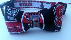 A personal favorite from my Etsy shop https://www.etsy.com/listing/387131938/dog-collar-bowtie-nc-state