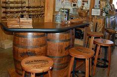 Whiskey Barrel Bar | Whiskey barrel bar.... Awesome idea!