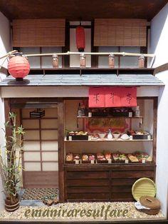 japanese food shop display room box