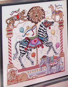 Donna Kooler Carousel Horses In CrossStitch by ThePamperedStitcher