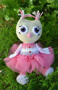 Owl princess amigurumi crochet pattern FREE