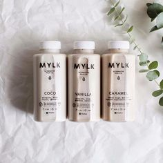 Got nut milk? Milk Packaging, Bottle Packaging, Packaging Design, Chocolate Packaging, Nut Milk Recipe, Milk Recipes, Aesthetic Coffee, Aesthetic Food, Glace Fruit