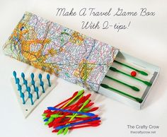 make a travel game box with q-tips // the crafty crow