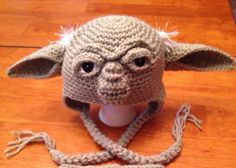 Crochet Adult Yoda Hat. Made to Order by MamaJody54 on Etsy, $25.00