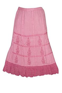 Womens Skirt Lace Panel Stonewashed Pink Embroidered Maxi... https://www.amazon.com/dp/B06XHR7PMC/ref=cm_sw_r_pi_dp_x_1rBXybDWG0XJ8