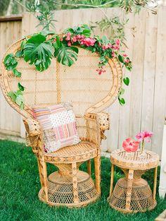Fun decorating ideas for a bohemian/tropical wedding or a chic, summer party! Tropical Bohemian Wedding Ideas   Krista Jones Photography