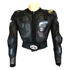 WOW MOTORCYCLE MOTOCROSS BIKE GUARD PROTECTOR YOUTH KIDS BODY ARMOR BLACK
