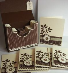 Gorgeous card set in a box! Uses Spiral Bouquet