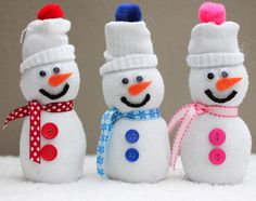 Fun Kids Craft: Sock Snowman for Winter. Gather your children and build sock snowmen together. Unlike winter snowmen, they don't melt.