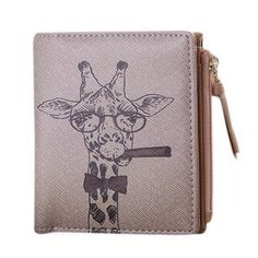 Cheap wallet and purse, Buy Quality women wallets directly from China wallet women Suppliers: Wallet Women Vintage Giraffe Animals priting Coin Clip Short Purse Clutch womens wallets and purses carteira feminina couro