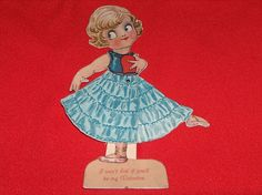 Vintage Mechanical  Betty Boop Stand-up  Valentine Card